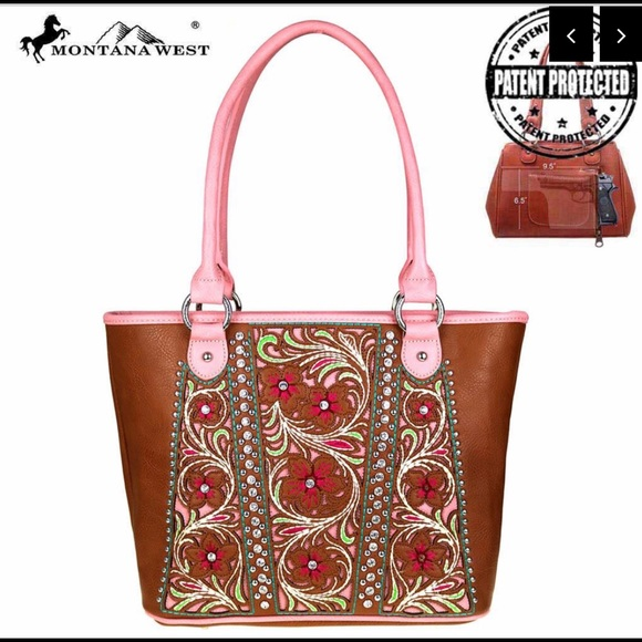 Montana west floral Concealed carry handgun tote ee4b49428be46